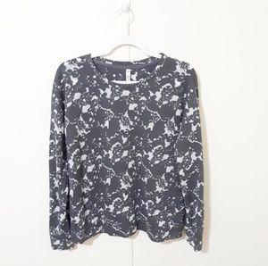 {Fabletics} gray burnout sweatshirt
